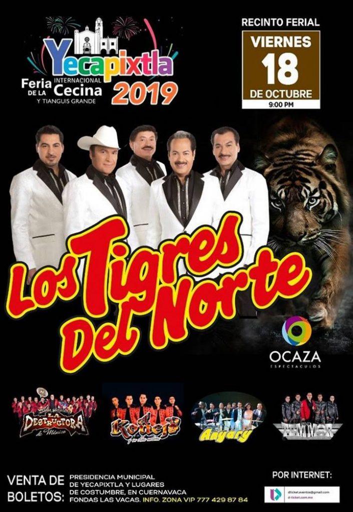Tigres del Norte en la Feria de Yecapixtla Morelos 2019
